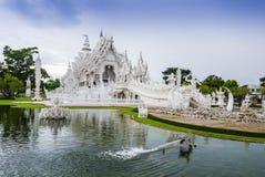Wat Rong Khun, the White Temple in Chiang Rai, Thailand. Overview of Wat Rong Khun, the White Temple in Chiang Rai, Thailand Royalty Free Stock Photos