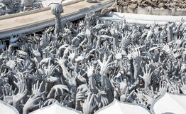 Wat Rong Khun, The White Temple, Chiang Rai, Thailand. royalty free stock photos