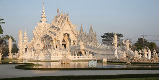 Wat Rong Khun, white temple Royalty Free Stock Photo