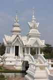 Wat Rong Khun or White Temple Stock Photo