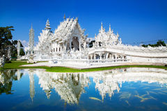 Wat Rong Khun or White Temple, Landmark in Chiang Rai, Thailand. Royalty Free Stock Photography