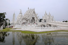 Wat Rong Khun (white temple) Royalty Free Stock Photography