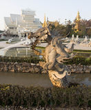 Monster staute at Wat Rong Khun Stock Images
