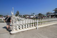 Wat Rong Khun, White Temple in Thailand Stock Images