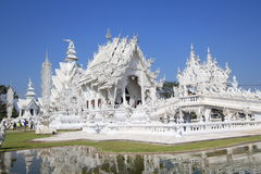 Wat Rong Khun, White Temple in Thailand Stock Photos