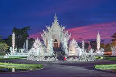 Wat Rong Khun. White Temple in Thailand, Night Temple in Thailand, White Temple in Chiang Rai, Thailand, hand hell wat rong khun Stock Images