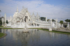 Wat Rong Khun (White temple) in the vicinity of Chiang Mai. Thailand Stock Image