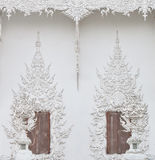 Wat Rong Khun window. Royalty Free Stock Photo