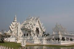 Wat Rong Khun of Witte Tempel, een eigentijdse onconventionele Knop Stock Afbeelding