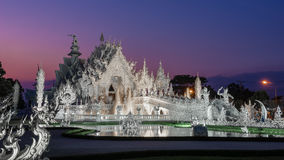 Wat Rong Khung white temple Stock Photos