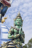 Wat Rong Sua Ten Chiang rai thailand. Royalty Free Stock Photography