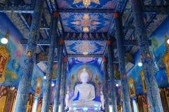 Wat Rong Sue Ten  is unseen blue temple in Chiang Rai. Wat Rong Sue Ten or blue temple is unseen blue temple in Chiang Rai, Thailand Stock Images