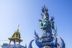 Wat Rong Suea 10, Chiang Rai, Таиланд стоковое изображение rf