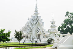 Wat rongkhun in chiangrai province. Wat rongkhun, thai white temple in chiangrai province Thailand Royalty Free Stock Photo