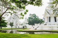 Wat rongkhun in chiangrai province. Wat rongkhun, thai white temple in chiangrai province Thailand Royalty Free Stock Photos