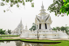 Wat rongkhun. Thai white temple in chiangrai province Thailand Stock Photography