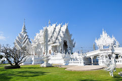 Wat Rongkun. The white temple in Chiangrai , Thailand Royalty Free Stock Photo