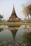 Wat Sa Si, Sukhothai,泰国塔  库存图片