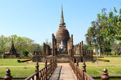 Wat Sa Si. Temple in Sukhothai Historical Park Stock Images