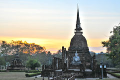 Wat Sa Si old landmark in Sukhothai of Thailand Royalty Free Stock Images
