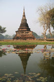 Wat Sa-Si, Pagode van Sukhothai, Thailand Stock Afbeeldingen