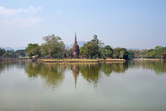 Wat Sa Si. In Sukhothai Historical Park, Thailand Royalty Free Stock Photos