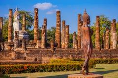 Wat Sa Si Temple en el parque histórico de Sukhothai, Tailandia Imagen de archivo libre de regalías