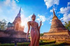Wat Sa Si Temple en el parque histórico de Sukhothai, Tailandia Fotos de archivo libres de regalías