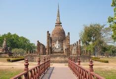 Wat Sa Si Temple in Historisch de Tempelpark van Sukhothai, Sukhothai, Thailand stock fotografie