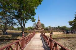 Wat Sa Si Temple in Historisch de Tempelpark van Sukhothai, Sukhothai, Thailand royalty-vrije stock afbeeldingen