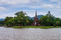 Wat Sa Si temple ruin Stock Photos
