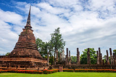 Wat Sa Si temple ruin Stock Photography