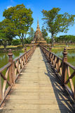 Wat Sa Si Temple in Sukhothai Historical Park Stock Photography