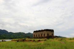 Wat Saam Prasob of de Gedaalde Tempel, het laatste resterende overblijfsel Royalty-vrije Stock Foto's