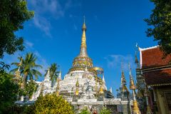 Wat Saen Fang tempel i Chiang Mai, Thailand Arkivbilder