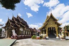 Wat Saen Muang Ma Luang o Wat Hua Khuang in Chiang Mai, Tailandia immagine stock libera da diritti