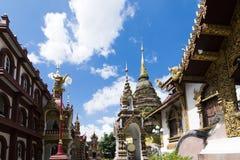 Wat Saen Muang Ma Luang o Wat Hua Khuang in Chiang Mai, Tailandia fotografia stock libera da diritti