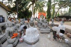 Wat Sainyaphum temple at Savannakhet, Laos Royalty Free Stock Photos