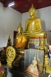 Wat Sakae Krang in Uthai Thani, Thailand. Golden buddha staute for people respect and praying at Wat Sakae Krang in Uthai Thani, Thailand Stock Photos