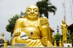Wat Sakae Krang at Uthai Thani, Thailand. Shin Thiwali statue and buddha statue and Phra sangkatjay happy and smile Buddha for people praying at Wat Sakae Krang Royalty Free Stock Photography