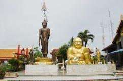 Wat Sakae Krang at Uthai Thani, Thailand. Shin Thiwali statue and buddha statue and Phra sangkatjay happy and smile Buddha for people praying at Wat Sakae Krang Royalty Free Stock Image