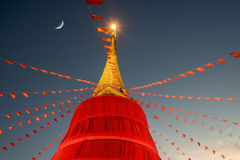 Wat Saket寺庙在曼谷 库存图片