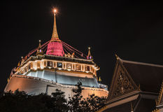 Wat Saket寺庙在曼谷 免版税库存照片