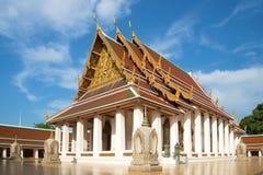 Wat Saket金黄登上寺庙修造的vihan佛教寺庙  曼谷泰国 免版税库存图片