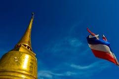 Wat Saket,金黄登上,曼谷,泰国惊人的寺庙  免版税库存图片