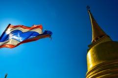 Wat Saket,金黄登上,曼谷,泰国惊人的寺庙  库存照片