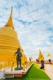 Wat Saket -金黄山寺庙(Phu KHao皮带)在曼谷 免版税库存图片