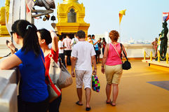 Wat Saket also Golden Mount Royalty Free Stock Photography