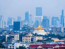 Wat Saket in Bangkok at dusk. Thailand Royalty Free Stock Photography