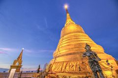 Wat Saket a Bangkok Tailandia Fotografie Stock